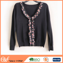 Fashion Middle Age Women Cardigan Sweater Design Autumn 2017