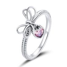 Elegant Sterling 925 Silver Cubic Zirconia Gift Finger Rings