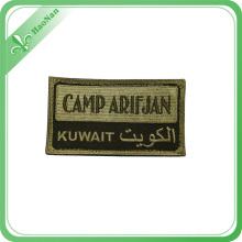 Etiqueta tejida de alta calidad barata de encargo de la ropa del logotipo, etiquetas tejidas
