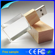 Full Capacity 1GB-64GB Crystal USB Flash Driver 2.0 USB Memory