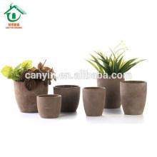 Pot de fleurs en céramique en céramique brun et noir