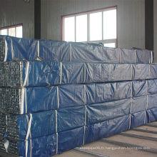 Tuyau en acier carré pré-galvanisé (80 * 40)