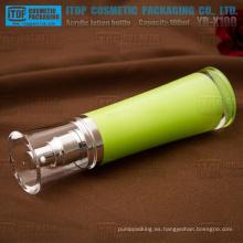 YB-X100 100 ml loción/spray alta lujo material acrílico transparente 100 ml botella de plástico de la bomba