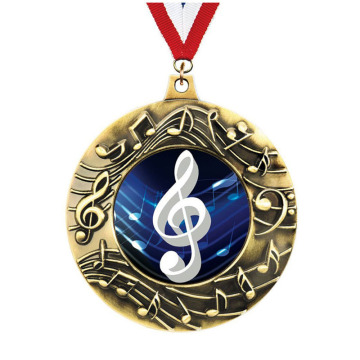Medallas exclusivas de Bronce Majestic Music de Crown