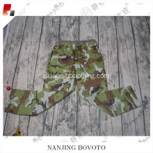 Children in camo plastic design baby pants