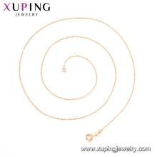 44167 Baixo preço estilo moderno breve projeto de jóias liga de cobre banhado a ouro contas colar de corrente