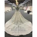 Robes de mariage à manches longues en dentelle de luxe Chine Robes de mariée faites sur commande de novia robe de mariée