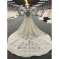 Luxury Lace Long Sleeve Wedding Dresses China Custom Made vestidos de novia Bridal Gown