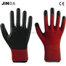 Nitrile Coated Zebra-Stripe Construction Working Safety Gloves (U204)