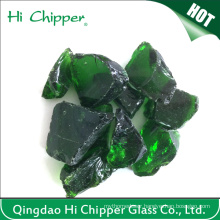 Dark Green Colored Landscaping Glass Rocks