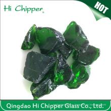 Темно-зеленый цветной ландшафтный стекла Скалы