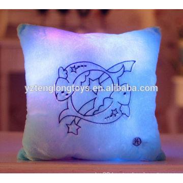 Lovely and cute LED Zodiac pillow plush twelve Zodiac cushion