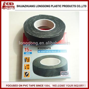 Ruban d'isolation en coton en tissu noir