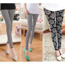 Moda feminina novo padrão impresso leggings (sr8222)