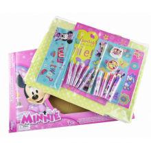 arte colorida corante de acuarela conjunto de papelaria para crianças