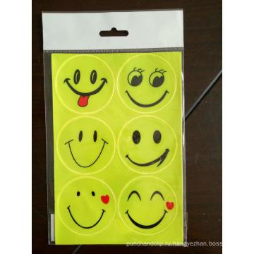 Светоотражающая наклейка с большой улыбкой для школьной сумки