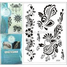 Idées de tatouages en dentelle en dentelle noire, gros tatouages temporaires en faux spécial design spécial pour adulte j026