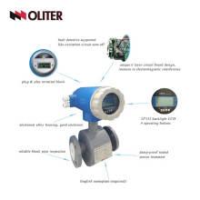 Débitmètre magnétique d'eaux usées de débitmètre électromagnétique d'eau numérique avec la bride électronique