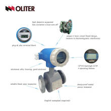 Digital water electromagnetic flow meter sewage magnetic flowmeter with flange electronic