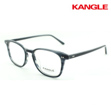 2018 acetate frames optical eyewear stripes spectacles slim rim eyeshape