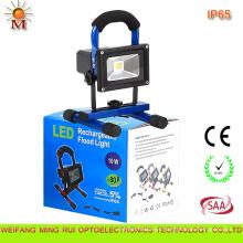 2 años de garantía Luz de inundación recargable portátil de alta calidad de la eficacia superior del LED 10W