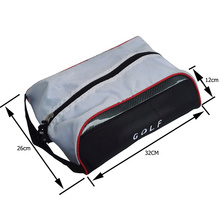 Golf dustproof and waterproof PU shoe bag
