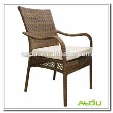 Audu Weaving hotel exterior mobiliário rattan pro cadeiras de jardim