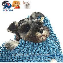 Toalla de secado del perro casero de Chenille de la microfibra de 31inch x 14inch con los bolsillos de la mano