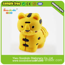 2014 Ny design Free Sample Yellow Tiger Eraser