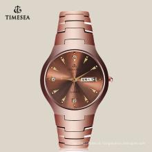 Relógio impermeável de negócios de moda com faixa de aço de tungstênio 72184