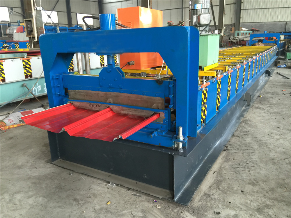 Self Lock Joint Hidden Roofing Panel Roll Forming Machine