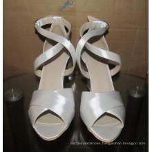 Fashion High Heel White Women Wedge Sandals (HCY02-1631)