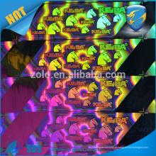 Etiqueta anti-falso de círculo / etiqueta de holograma de autenticidade / adesivo de holograma 3d