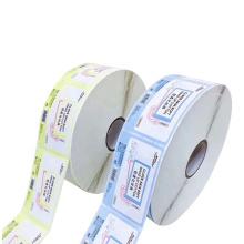 Customized PP Gum Paper Sticker Labels Print Label