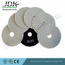 Tampons de polissage diamantés secs de 4 pouces pour le granit et le marbre