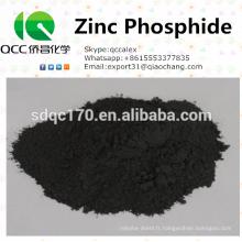 Alimentation directe en usine Rodenticide Zinc Phosphure 80% en poudre