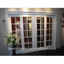 Puerta francesa de cristal del interior del color blanco con 10 lite