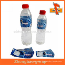 Custom design Plastic PVC mineral water label for bottle cap&body packaging