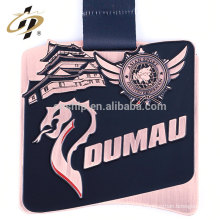 Medalla de metal de jiu-jitsu de logotipo de aleación de zinc de esmalte suave para Japón