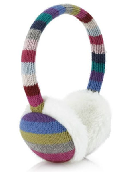 Stripe Knitting Warm Earmuffs
