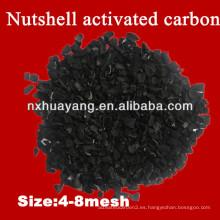 Huayang HY50 1000 mg / g Yodo número granular tuerca cáscara de carbón activado