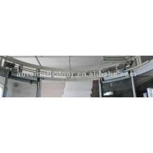 sliding arc door system
