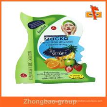 Guangzhou vendedor Lamimated material personalizado impreso bolsa de plástico para productos de cuidado de la piel