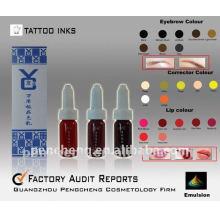 Tatouage permanent permanent à haute qualité encre / pigment liquide-sourcils
