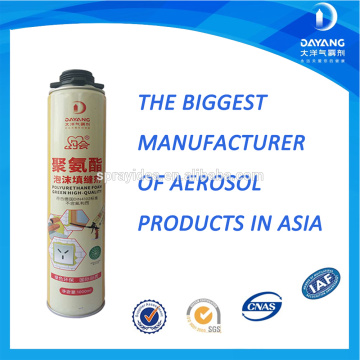 Polyurethane PU Foam Spray Adhesive High Performance Construction Adhesive Permanent