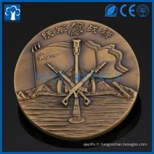Monnaie en métal 3D en laiton personnalisée