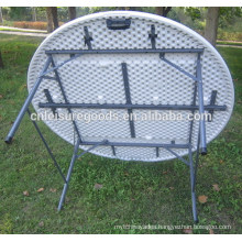 Outdoor steel plastic folding table