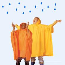 Poncho de lluvia de plástico resistente para niños