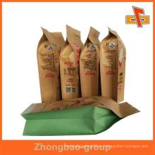 Bolsa de papel kraft marrón estampado laminado con sellado térmico para tuercas con impresión personalizada