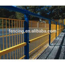 PVC окунул покрытие высокопрочной стали двойной забор, Проволока, рабица